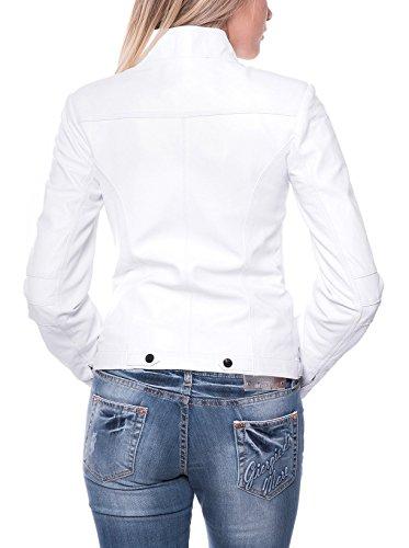 GIORGIO DI MARE Lederjacke Blanco weiß Weiß