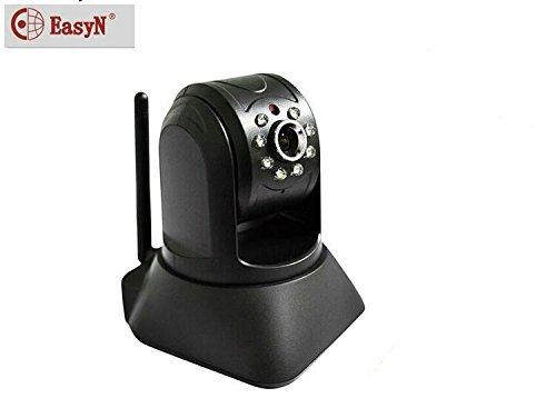 EasyN F3-M187 - Telecamera IP con/senza fili e webcam per monitoraggio neonati (Sensore CMOS, 640 x 480 Pixel, con funzione Pan/Tilt a 355/90 gradi, 8-LED, visione notturna fino a 10 m, filtro IR integrato, Funzionalità P2P, visualizzazione istantanea sul tuo dispositivo iOS o Android)