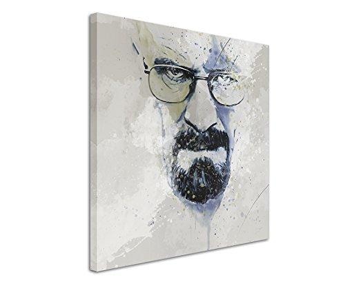 Paul Sinus Art Breaking_Bad_Heisenberg_II_Aqua_60x60cm Wandbild Leinwand, 90 x 50 x 3 cm, mehrfarbig (Foto Kunst Leinwand)