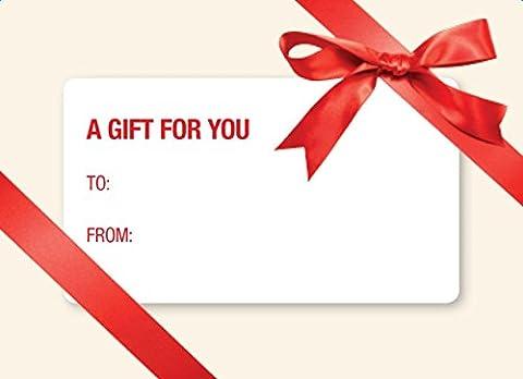 # 17Mini carte cadeau enveloppes Nœud - Rouge
