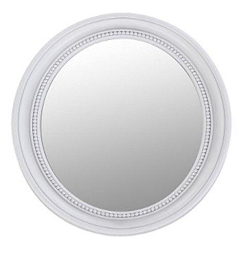 BHP Pared Maquillaje Espejo de la Sala de baño Cosmética Barroco Adornos Ronda Blanco B991485-3