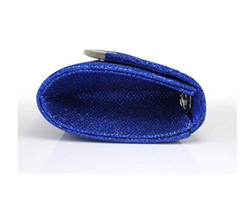 Borsa Delle Signore Nuova Borsa A Tracolla Di Colore Della Maniglia In Metallo Solido Blue
