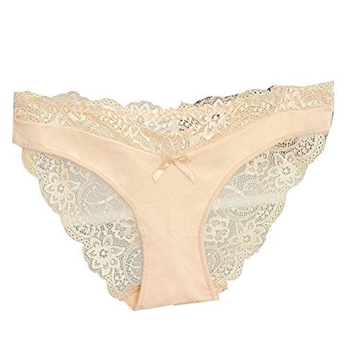 Zhhlaixing Fashion Atmungsaktive Dessous Low Waist Womens Underwear Lace Hollow Underpants S L XL XXL Black