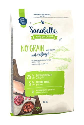 Sanabelle No Grain mit Geflügel | Katzentrockenfutter für ernährungssensible Katzen, 1er Pack (1 x 10000 g)