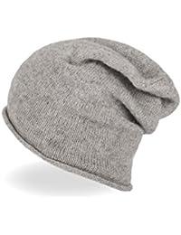 95111dde61f484 CH 100% Kaschmir Beanie Mütze | Strickmütze für Damen und Jugendliche