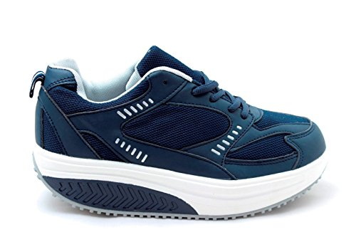 SCARPE RASSODA GLUTEI EGLEMTEK® TM BENESSERE DIMAGRANTI SPORTIVE FITNESS BASCULANTI Blue Navy