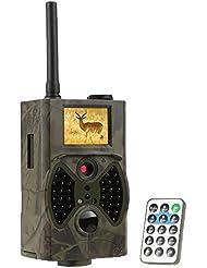 Lixada GPRS / MMS / SMS Caméra de chasse Infrarouge caméra de surveillance Photo et Vidéo pour observation de faune Animaux 940nm IR LED HC300M ( Sans Carte MicroSD )