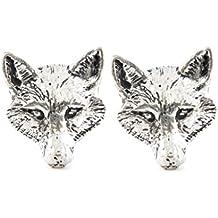 Manschettenknöpfe Fuchs englischer Zinn, in Geschenkbox