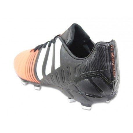 Nitrocharge 3.0 FG Enfants - Chaussures de Foot Noir/Blanc/Orange Flash Noir