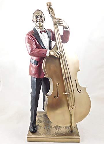 Unbekannt Veronese Bassspieler Figur Bassist Skulptur Kontrabass Musiker Jazz Band Statue - 76222