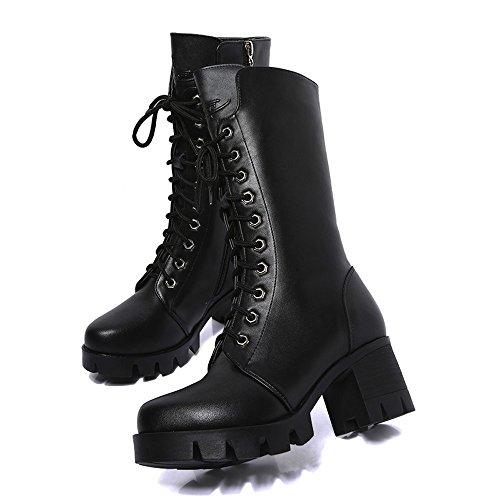 SUNNSEAN Damenstiefel Stiefeletten Damen Ankle Booties Leder Ritter Damen Martin Stiefel Zip Cowboy Schuhe Casual Boots Mode Freizeit Kurze Stiefel