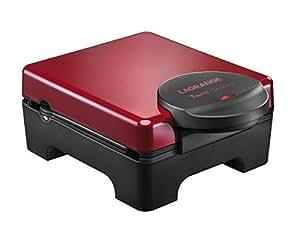 Lagrange 029 412 Tarti Gaufre + Croque Monsieur Capot en Bakélite Rouge 32 cm