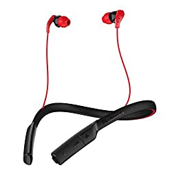 Skullcandy Method Bluetooth Wireless Sport Earbuds with Mic Swirl Gray Red