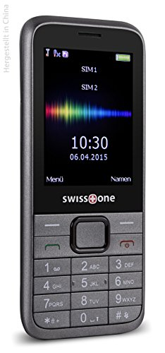 swisstone SC 560 - Dual SIM Mobiltelefon mit extra großem beleuchtetem Farbdisplay