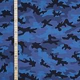 StoffHandwerker Camouflage - Blau - Jersey