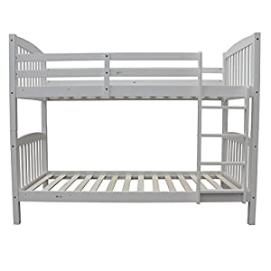 Homegear 3FT Solid Pine Wooden Bunk Bed - Can Split into 2 Single Beds
