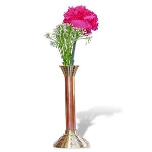 Vase en cuivre et laiton pour fleurs - Décoration de table