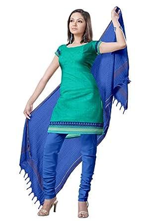 Platinum Traditional Solid Zari Border Cotton Dress Material Psl615