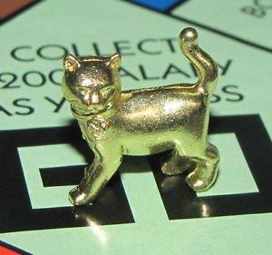 Monopoly Klassik Limited Edition goldene Bonus Katzen-Spielfigur