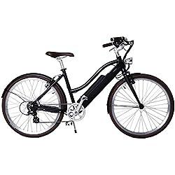 LUTECE Vélo électrique Adulte, Libby Miller, VAE, 26pouces, Aluminium, 250W, Batterie 70km, 19kg avec Batterie, SAV Premium, Livré Monté (Noir Primordial)