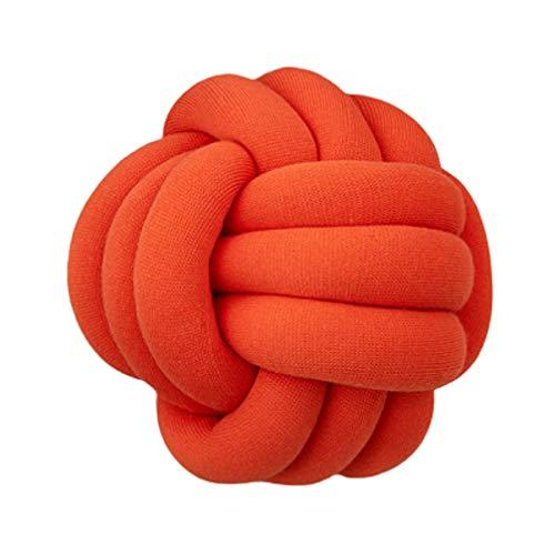 VOSAREA geknotet Ball Kissenplüsch Wurfkissen- nettes Spielzeug Geschenk für zu Hause Schlafcouch Couch Dekoration 30x30cm (orange) -