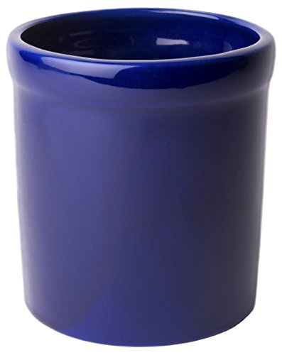 American Mug Pottery Ceramic Utensil Crock Utensil Holder Made in USA Blue - In Made Usa Besteck