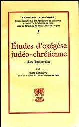 Etudes d'exégèse judéo-chrétienne