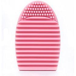 Internet Limpieza Maquillaje Guante de lavado de herramientas del cepillo cosmético Junta Scrubber limpia (Pink)