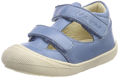 Naturino Baby Jungen 4684 Sandalen, Blau (Jeans), 24 EU (Denim Leder Sandalen Blau)