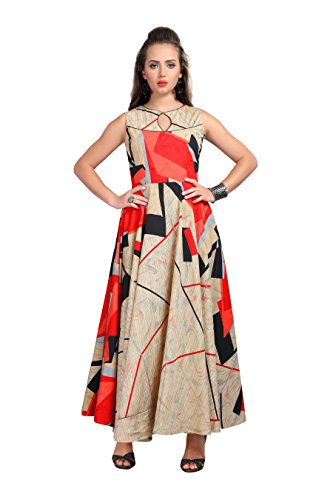 MT Printed Designer Gown style Long kurta- Party wear latest readymade silk...