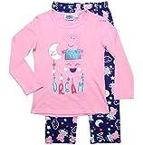 Peppa Wutz Schlafanzug Mädchen Pyjama Peppa Pig Lang (Blau-Rosa, 110-116)