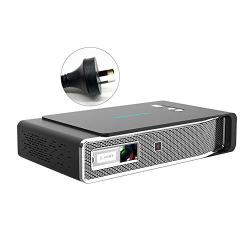 ZqiroLt V5 Portable Home Theater 3D DLP 1080P HD Bluetooth 5.0 Smart Video Projector Golden *AU Plug
