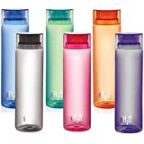 Cello H2O Unbreakable Plastic Bottle Set, 1 Litre, Set of 6, Multicolour