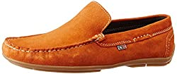 Arrow Mens Rust Leather Loafers and Moccasins - 8 UK/India (42 EU)