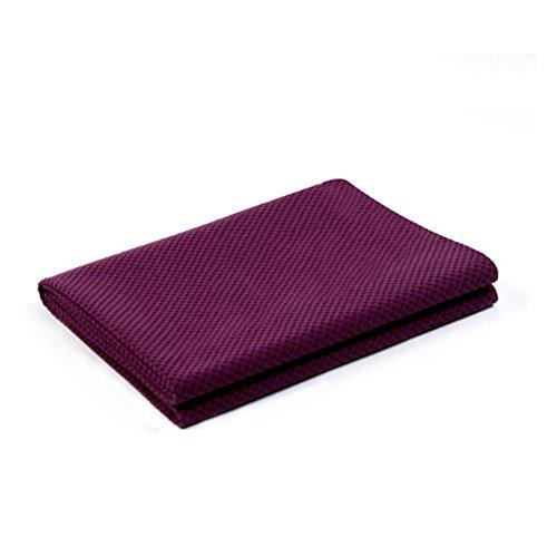 XFAY (183CM*61CM*1MM)matériau TPE serviettes yoga- Yoga de super-absorbant serviette,100% Super Absorbant en microfibre serviette - antidérapant Pilates accessoires / Sport Fitness Yoga-pourpre