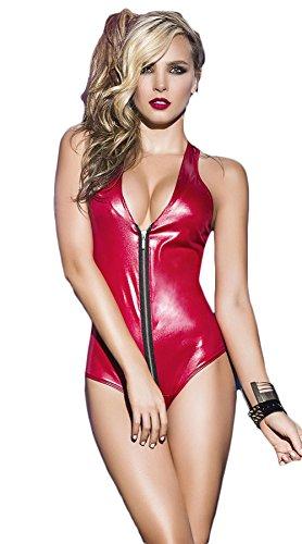 SEX PLAYSexy Unterwäsche / Siamese Lackleder Unterwäsche / Nachtclub Pole Dancing Kleidung (Kostüme Pole Fitness)