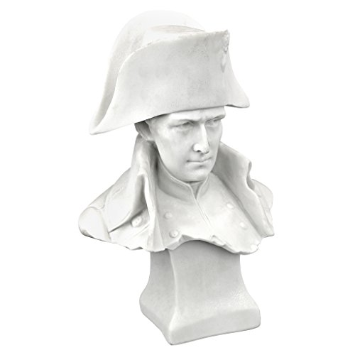 Napoleon-büste (Design Toscano Emperor Napoleon Bonaparte Bonded Marble Statue, Kunstharz, weiß, 12.5x20.5x30.5 cm)