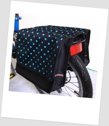 T-JOY-35 Fahrradtasche JOY dots little 2 azur Kinderfahrradtasche Satteltasche Gepäckträgertasche 2 x 5 Liter KINDER