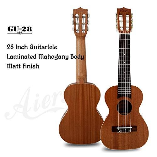 QLJ08 Ukulele elettrico per chitarra elettrica a 6 corde Ukelele da 28 pollici Guitarlele