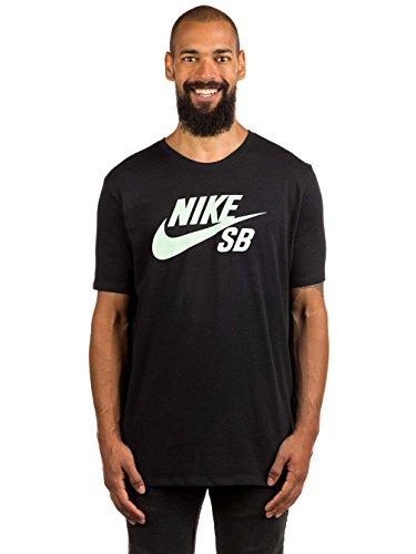 Nike SB Logo Tee–Maglietta a maniche corte Uomo nero (nero/verde (fresh mint))