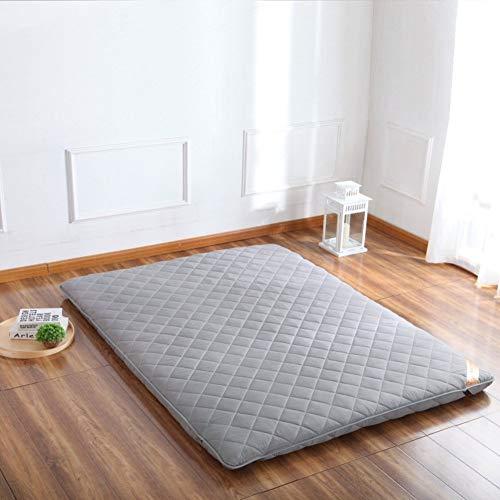 EEvER Schlafmatte Bequeme Matratze Tatami-Fußmatte, Fußmatte Futon-Matratzenauflage Traditionelle japanische Futon Viel Dickes Queen-Size Einzelne Größe Dorm-B 150x200 cm (59x79 Zoll)