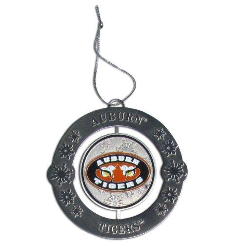 NCAA Metall Gravur Zwei-seitige Spinner Weihnachtsbaum Ornaments, Auburn Tigers -