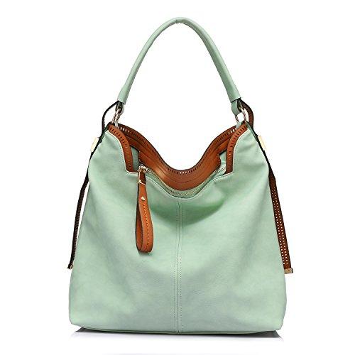 Borse Borsa Hobos Borse a tracolla per donne borsa grande borsa Messenger Messenger verde-1