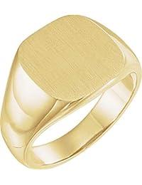 107e2e9cc5e3 Anillo de oro amarillo de 10 quilates de 14 mm para hombre con acabado de  brocha