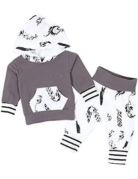 Chicolife Unisex Neugeborene Baby Jungen Mädchen Warm Hoodie Top + Legging Hosen Outfits Set Kinder Kleidung