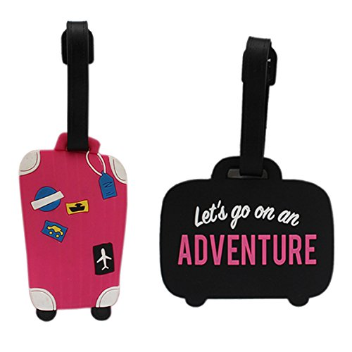 Tootpado Luggage Tag Adventure with Suitcase - Pack of 2 (CLNT32) - Bag Adventure Tags