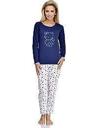 1493f8881a Merry Style Pijamas Conjunto Camisetas Mangas Largas y Pantalones Largos  Ropa de Dormir de Cama Lencería