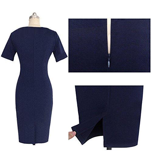 KingField - Robe - Crayon - Manches Courtes - Femme Bleu - Bleu profond