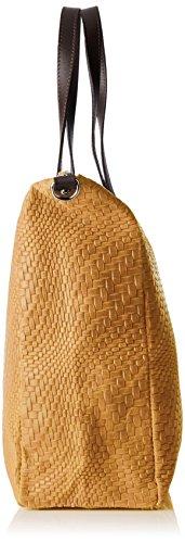 Chicca Borse 80058, Borsa a Tracolla Donna, 36 x 36 x 13 cm (W x H x L) Marrone (Cuoio)