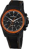 Jacques Lemans Men's Liverpool 44mm Black Silicone Band Quartz Watch 1-1799U
